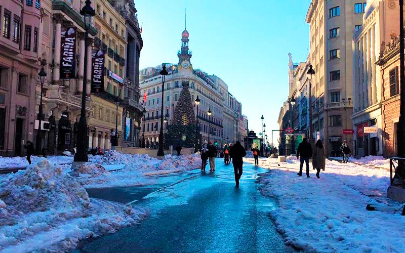 Madrid tras la tormenta de nieve